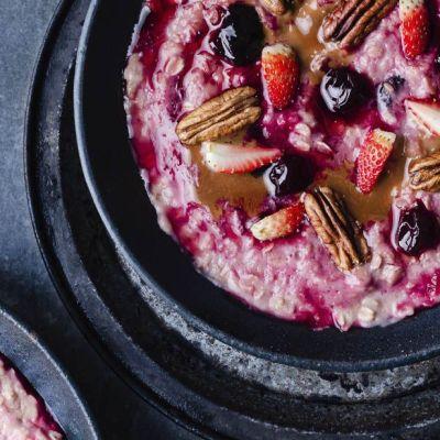 Porridge alle amarene