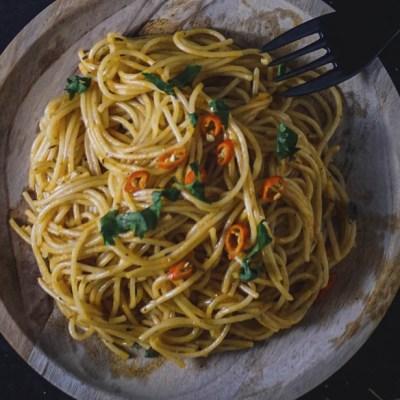 Spaghetti aglio e olio con la modifica
