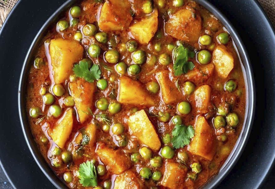 Curry vegetariano alle patate