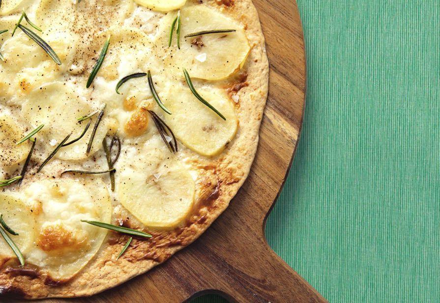 Pizza veloce patate e stracchino