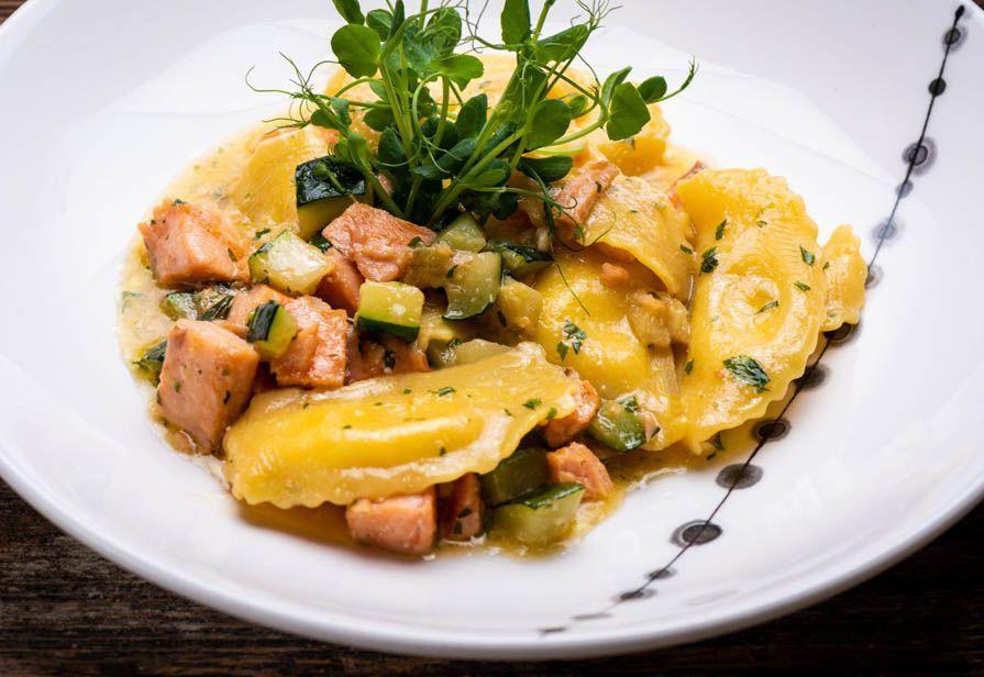 Mezzelune salmone e zucchine