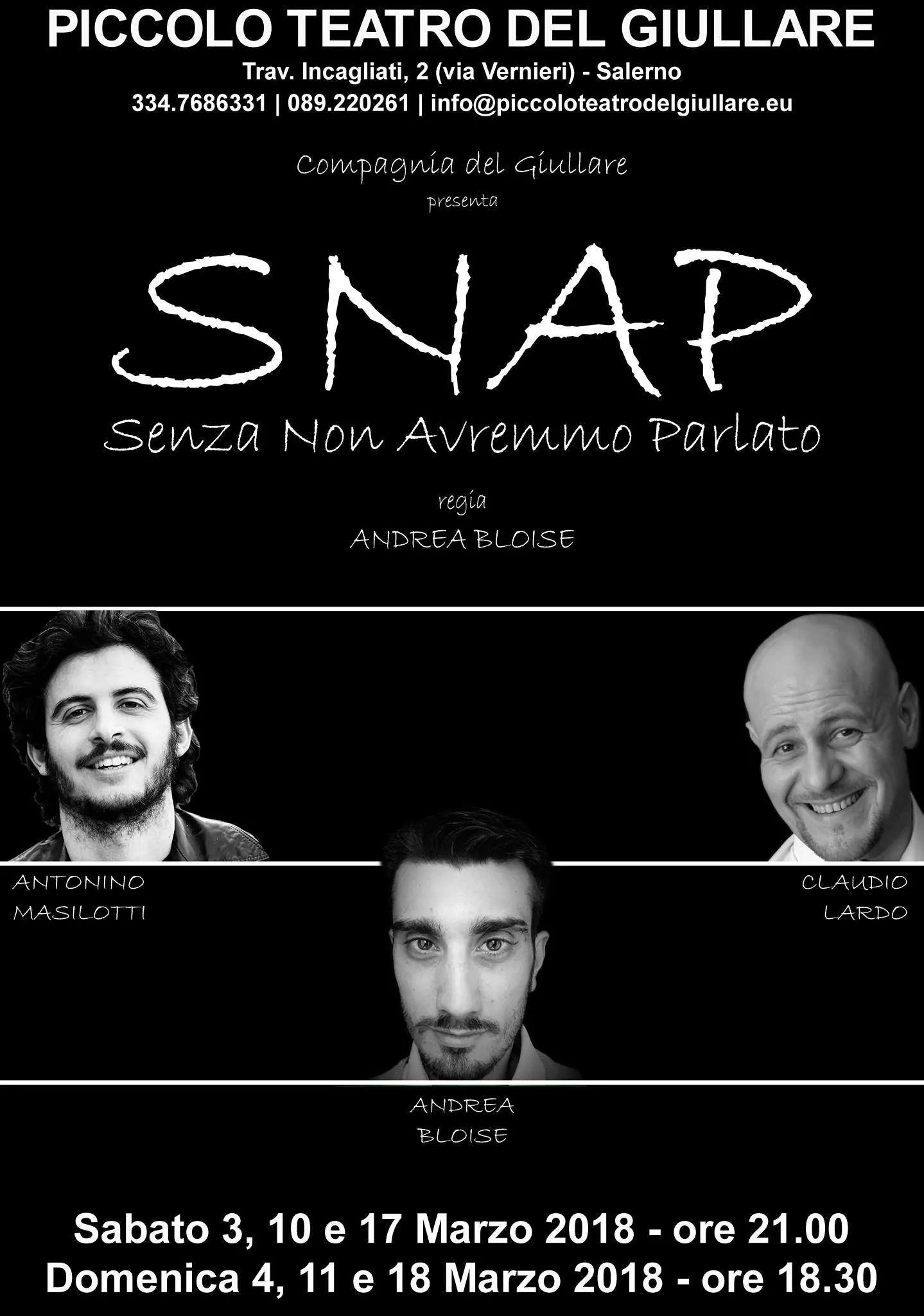 Sabato 3, 10 e 17 (ore 21) e Domenica 4, 11 e 18 (ore 18.30) Marzo 2018 al Piccolo Teatro del Giullare | Stagione 2017-2018