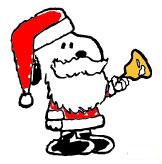 clip art - christmas snoopy