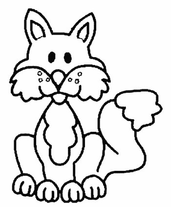 fox baby coloring page