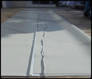 liner armé piscine préparation bandelette