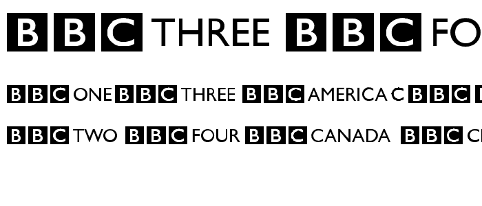 BBC Striped Channel Logos Font : Dingbats Logos