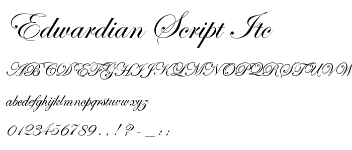 Image result for edwardian script itc