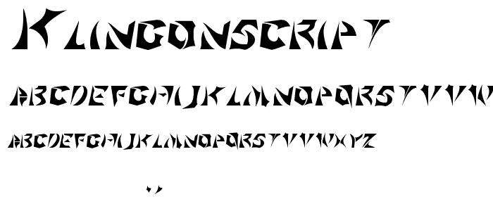 KlingonScript Font : Techno Sci-Fi : pickafont.com