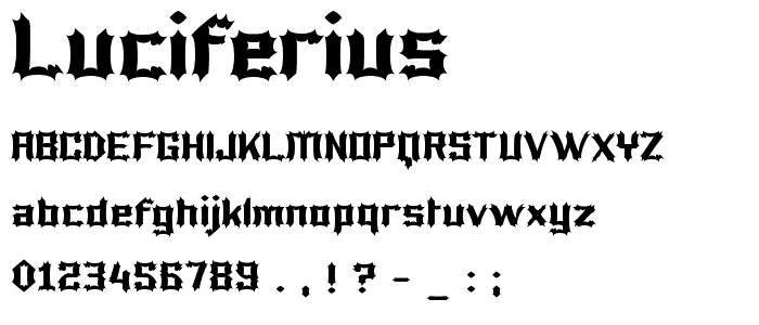 Luciferius Font : Gothic Modern : pickafont.com