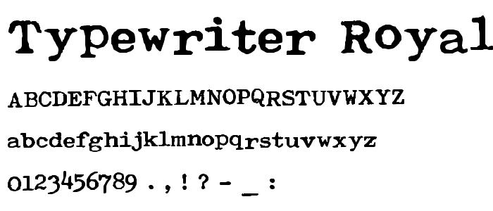 Typewriter Royal 200 Font : Fancy Typewriter : pickafont.com