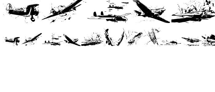 world war II warplanes 2 Font : Dingbats Various