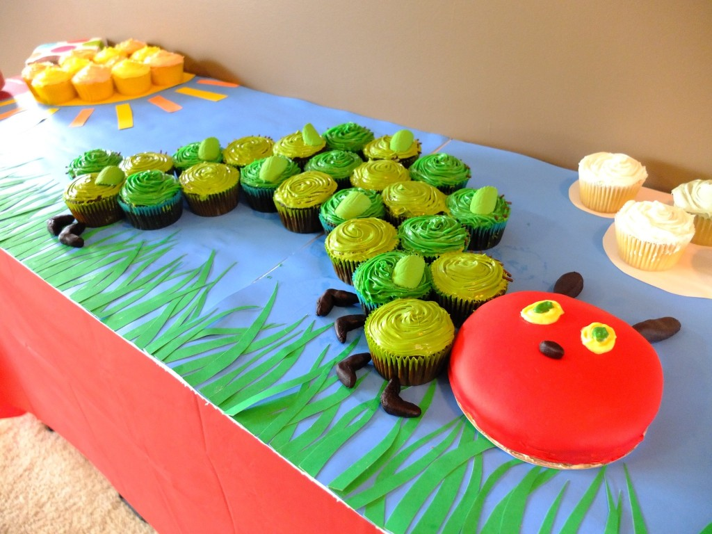 Hungry Caterpillar Cupcakes