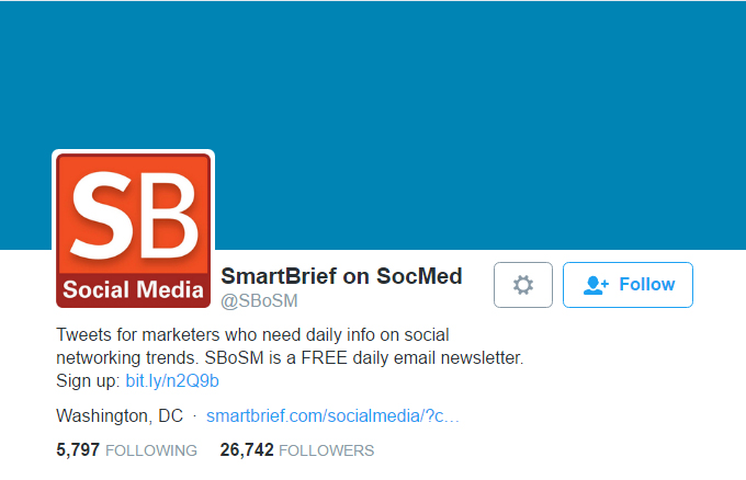 SmartBrief on SocMed