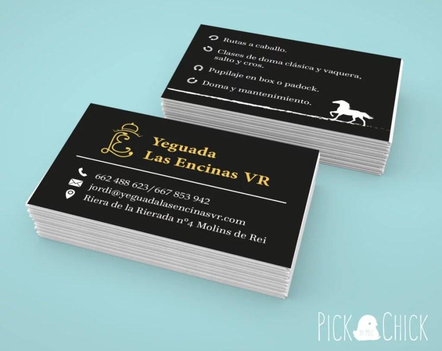tarjeta de visita hipica yeguada diseño grafico encargo