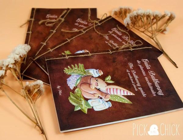 libro guia de plantas medicinales ilustrada fanzine kawaii
