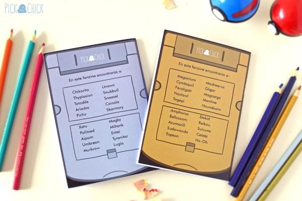Fanzine libro de colorear pokemon oro y plata kawaii