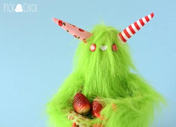 peluche monstruo mobbo verde