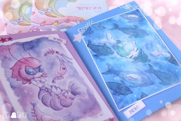 libro de arte fanzine mermay acuarela