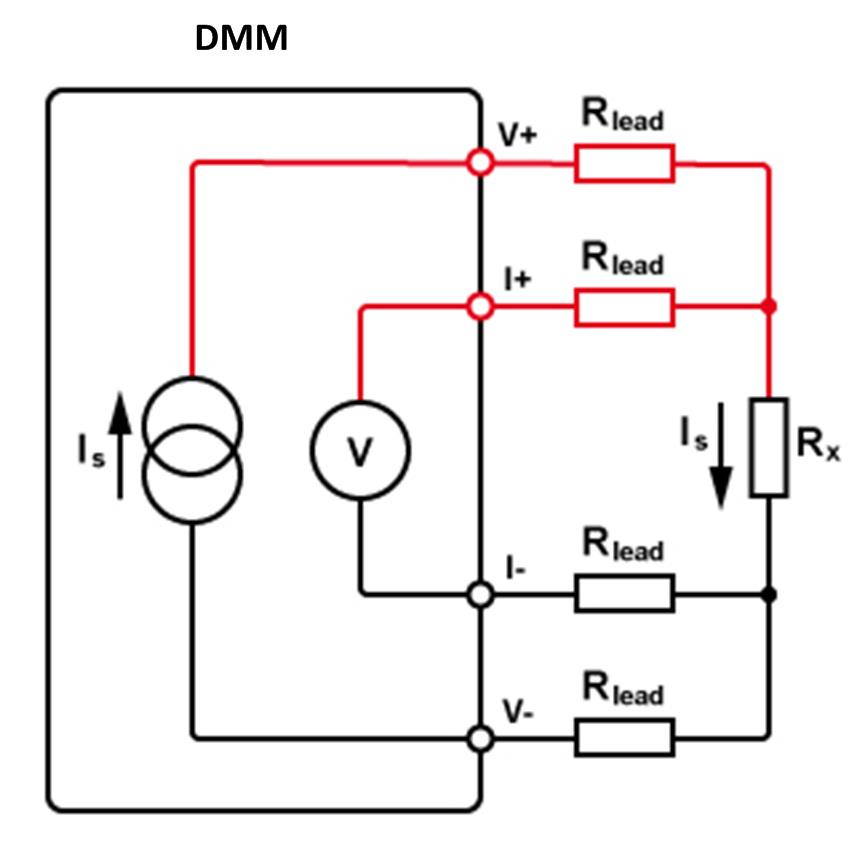 4 wire measurement circuit bathroom fan light wiring diagram resistance measurements with a dmm four