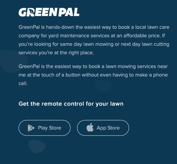 GreenPal elevator pitch