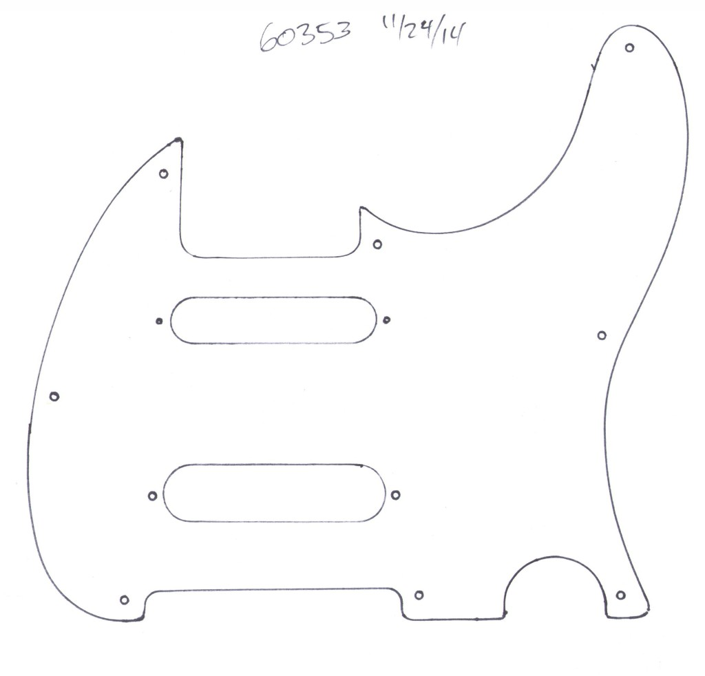 How to submit a Tracing of your original pickguard