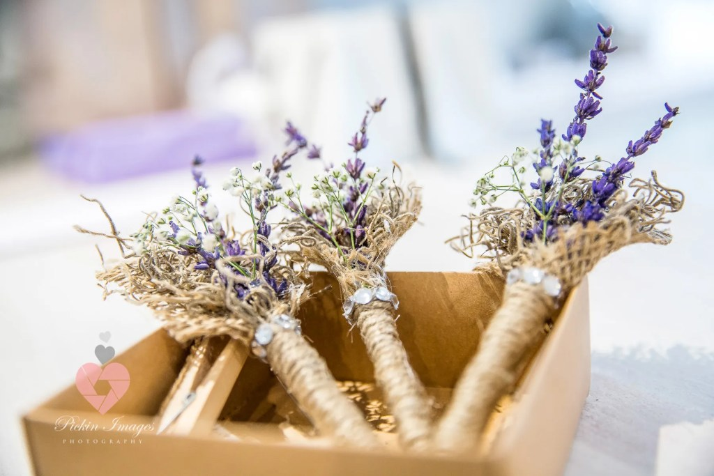Buttonholes ready to go
