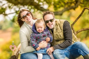 Local family in an autum woodland. Shot by swindon wedding photographer, pickin images photography