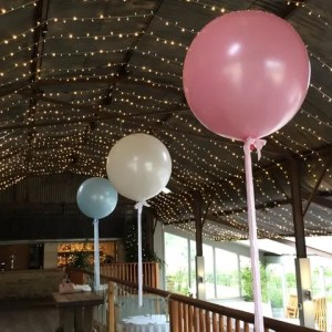 Oversized balloons made for weddings
