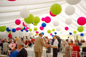Flint & Lambourn Marquees hire with pickin images photography