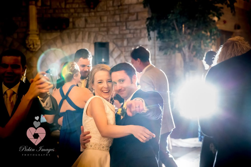 Bride and groom hitting the dance floor for the first time as a married couple.