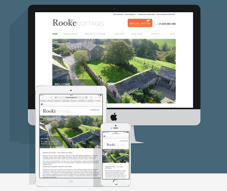 Rooke Cottages Responsive Website