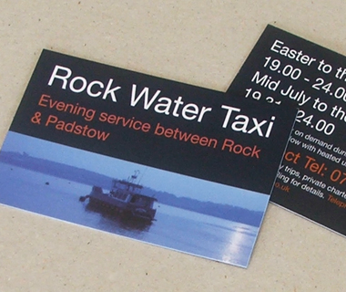 Rock Water Taxi Business Cards