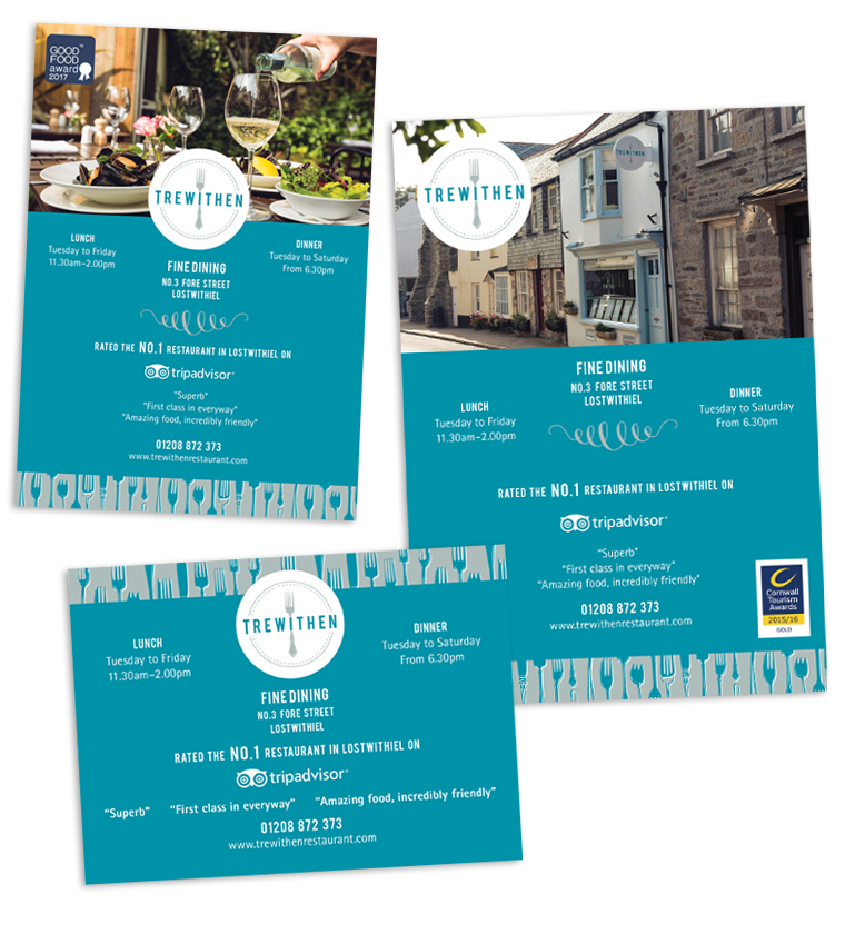 Advert design for The Trewithen Restaurant, Lostwithiel