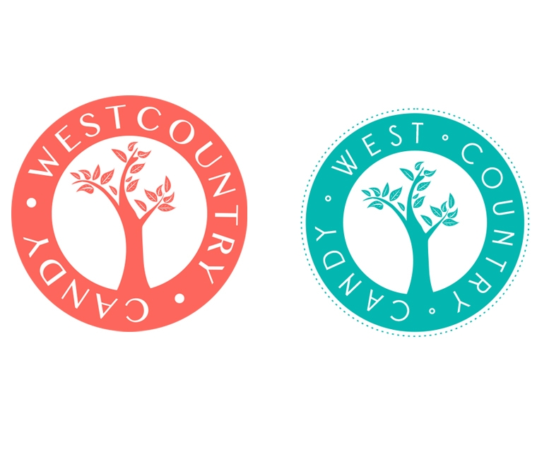 West Country Candy logos before and after