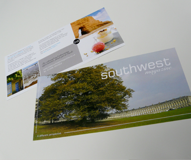 DL flyer design for The South West Magazine