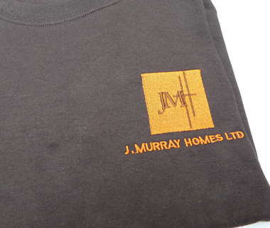 Clothing embroidery for J.Murray Homes