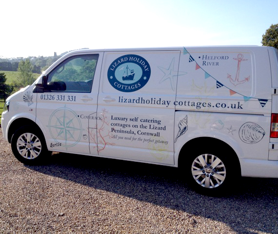 Lizard Holiday Cottages Vehicle Graphics