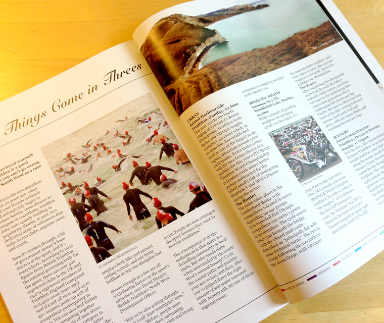 Editorial design for The South West Magazine