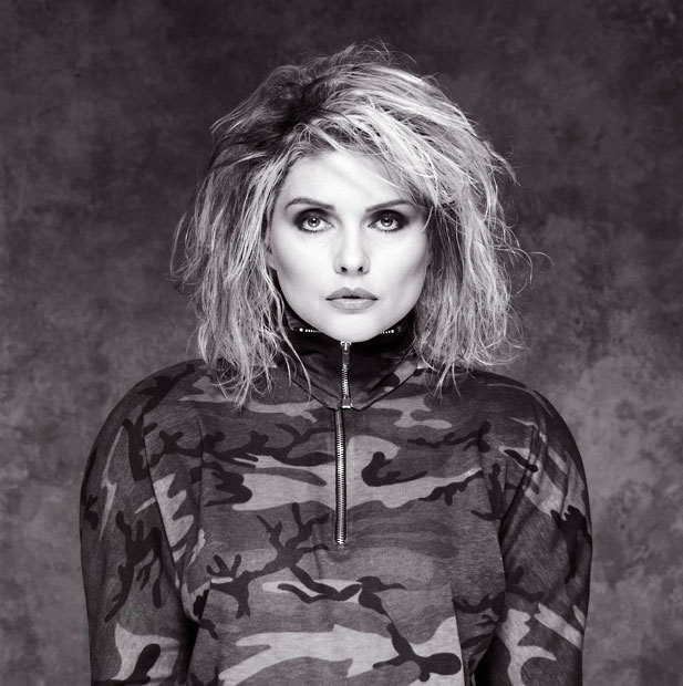 Debbie Harry, Camo Outfit, Holborn Studios, London, 1987, by Brian Aris