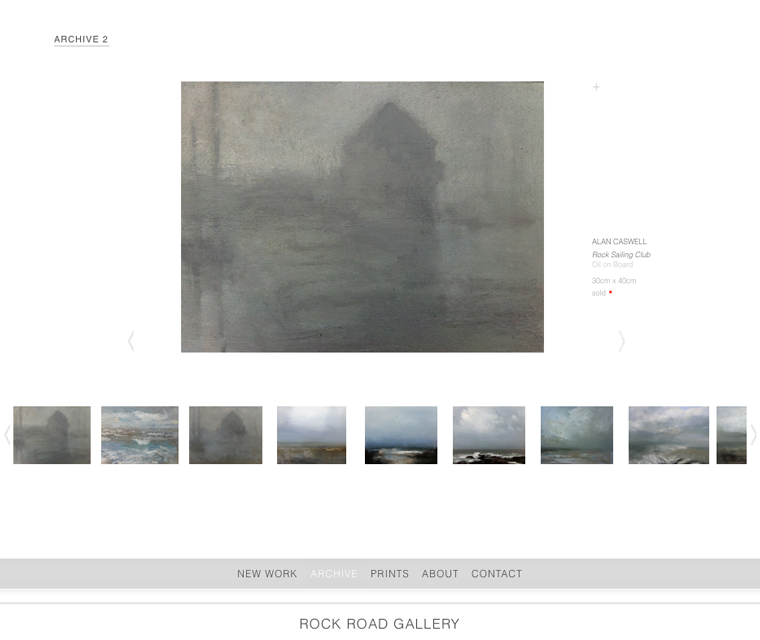 Gallery page for the responsive website design for Rock Road Gallery