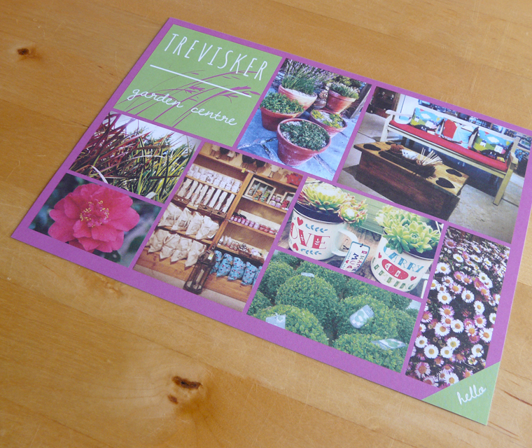 A5 flyer design for Trevisker Garden Centre