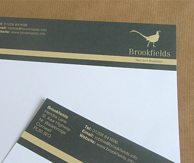 Letterhead design for Brookfields B&B