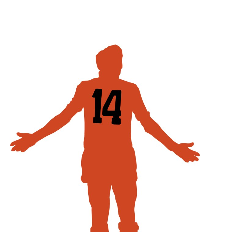 Silhouette illustration of the great Johan Cruyff