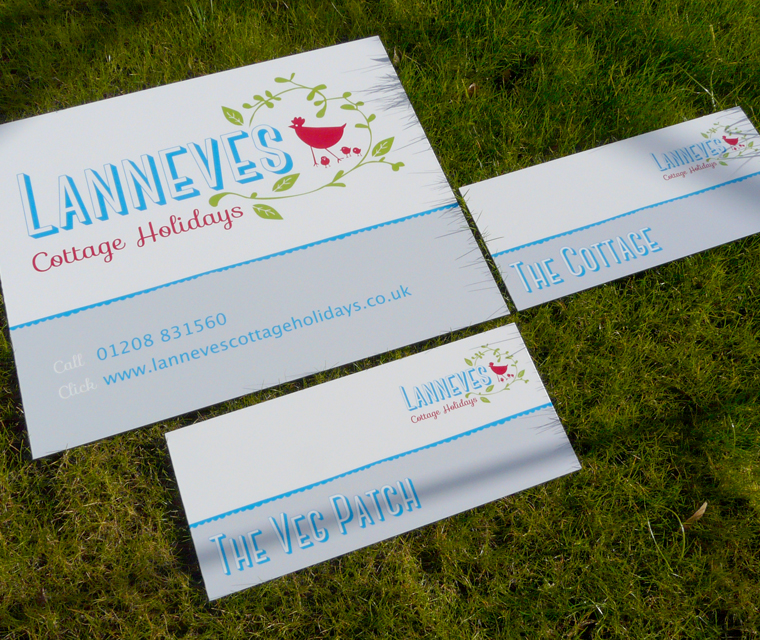 Signage design for Lanneves Cottage Holidays