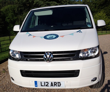 Bonnet graphics for Lizard Holiday Cottages' Volkswagen van