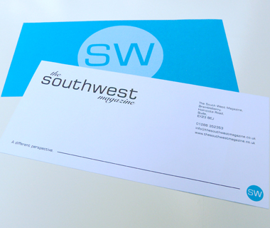 Double sided compliment slip design for The South West Magazine