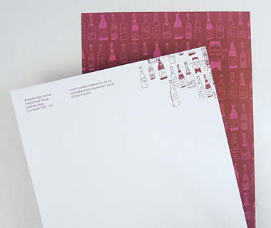 Letterhead design for Wadebridge Wines