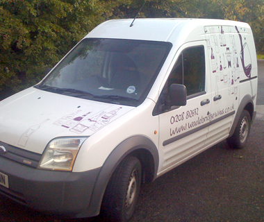 Vehicle livery design for Wadebridge Wines
