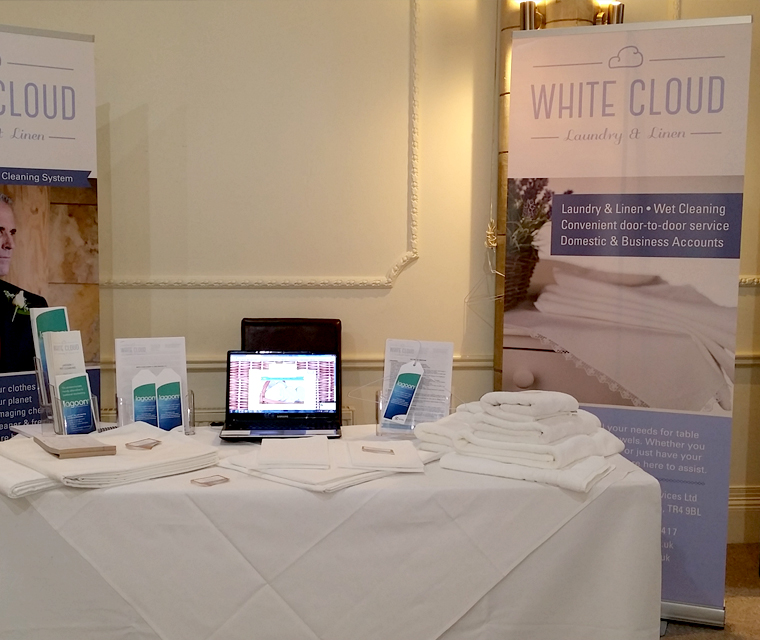 Roller Banner design for White Cloud Laundry & Linen
