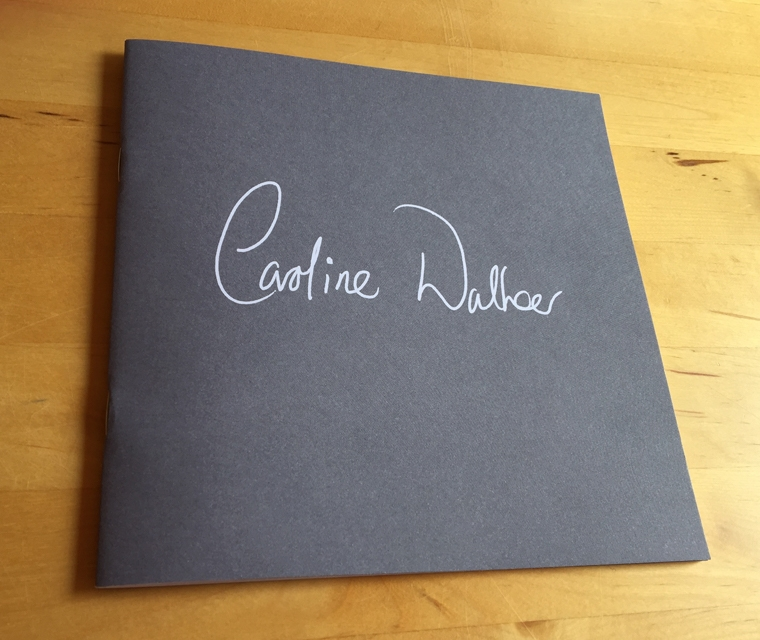 Cover design for the Caroline Walker brochure